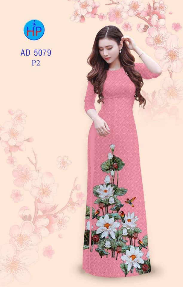 Vải áo dài Hoa Sen mới ra AD 5079