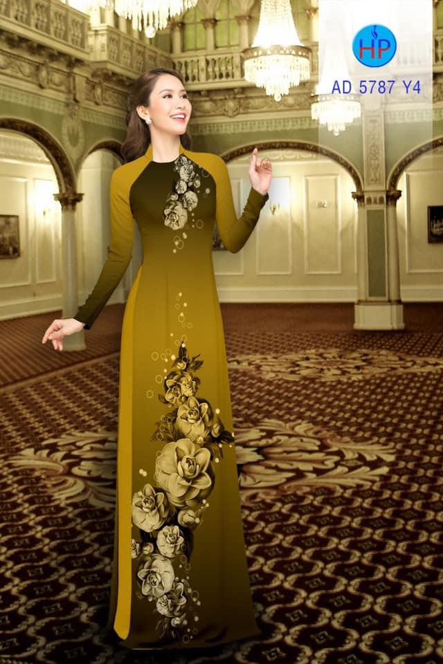 Vải áo dài Hoa in 3D thiết kế 2019 AD 5787