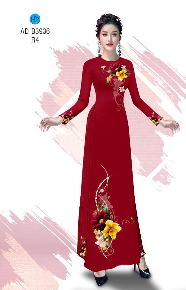 Vải áo dài Hoa in 3D mới ra AD B3936