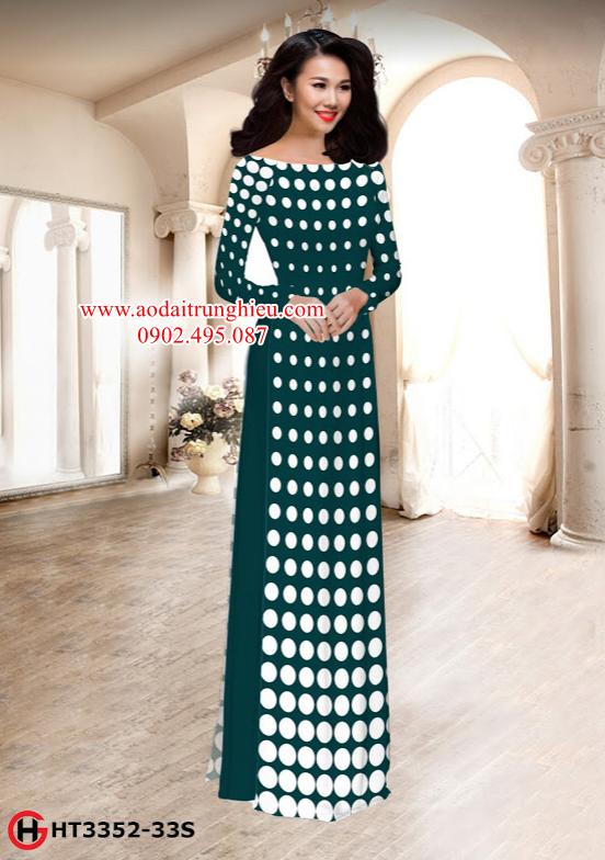 Vải áo dài chấm bi thiết kế 2019 AD HT3352