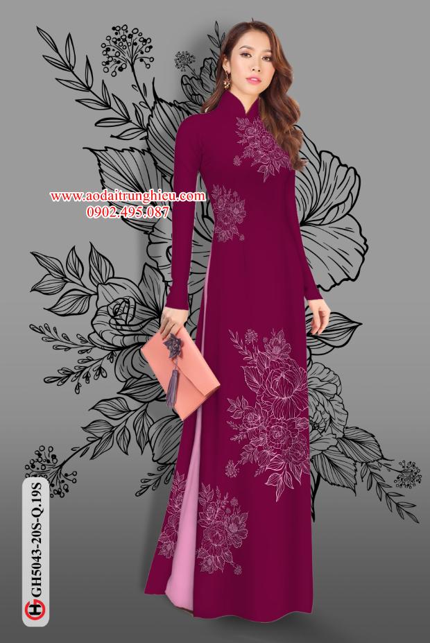 Vải áo dài hoa đẹp kiểu mới AD GH5043