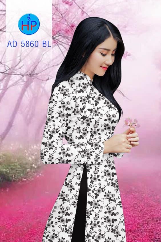 Vải áo dài Hoa đều mới ra AD 5860