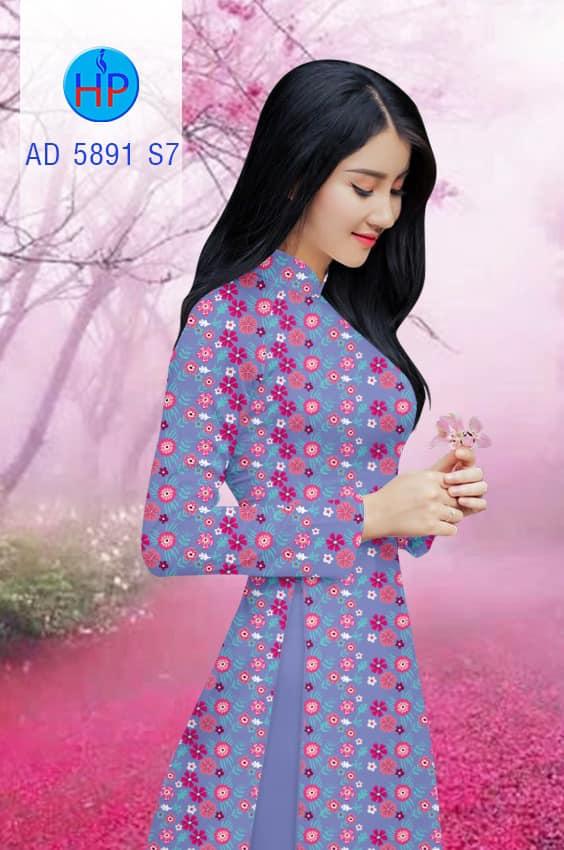 Vải áo dài Hoa đều kiểu mới AD 5891
