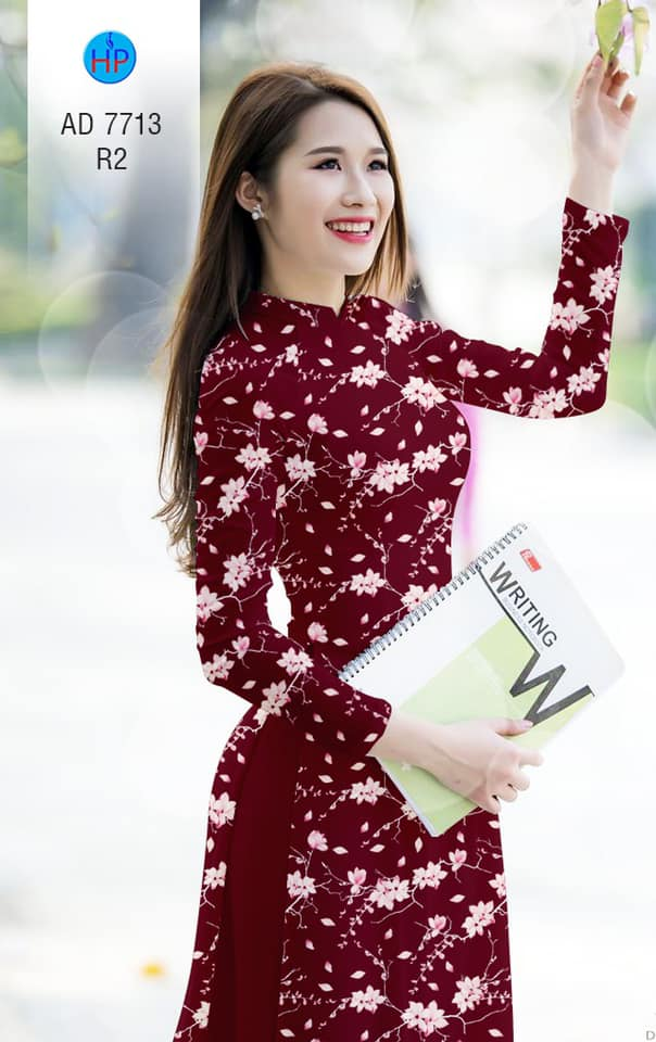 Vải áo dài Hoa đều thiết kế 2019 AD 7713