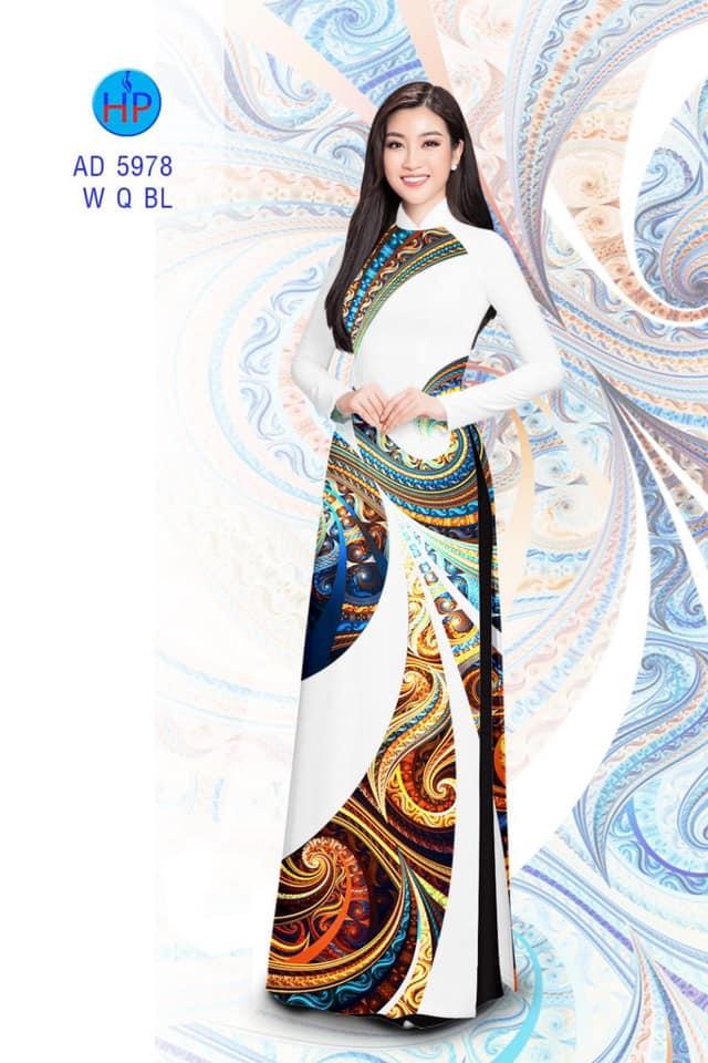 Vải áo dài Lập thể thiết kế 2019 AD 5978