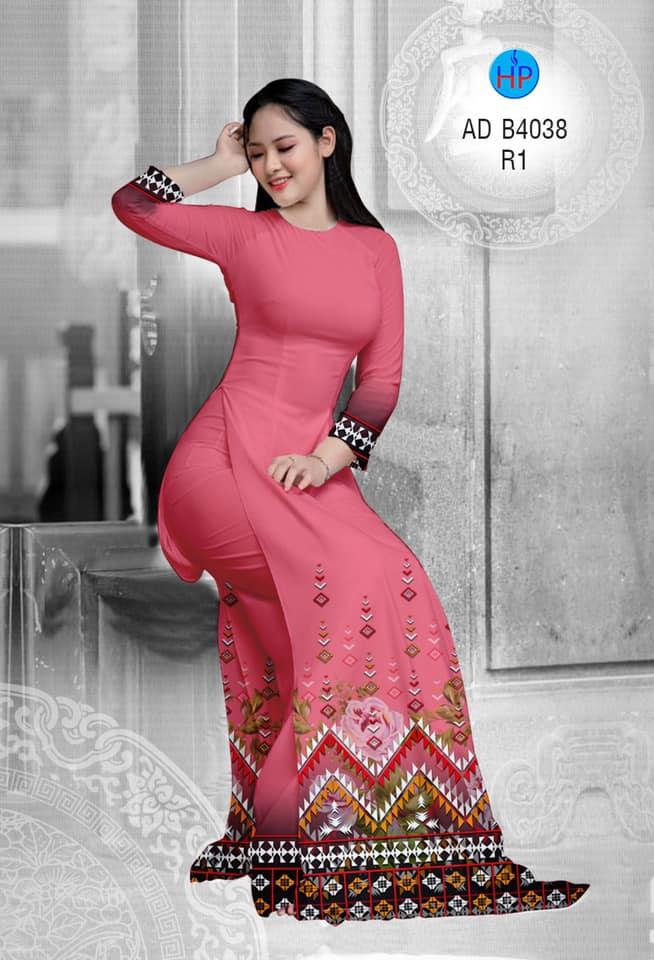 Vải áo dài Hoa văn thổ cẩm mới ra AD B4038