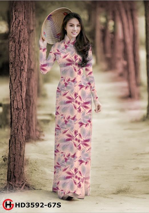 Vải áo dài hoa đều kiểu mới AD HD3592