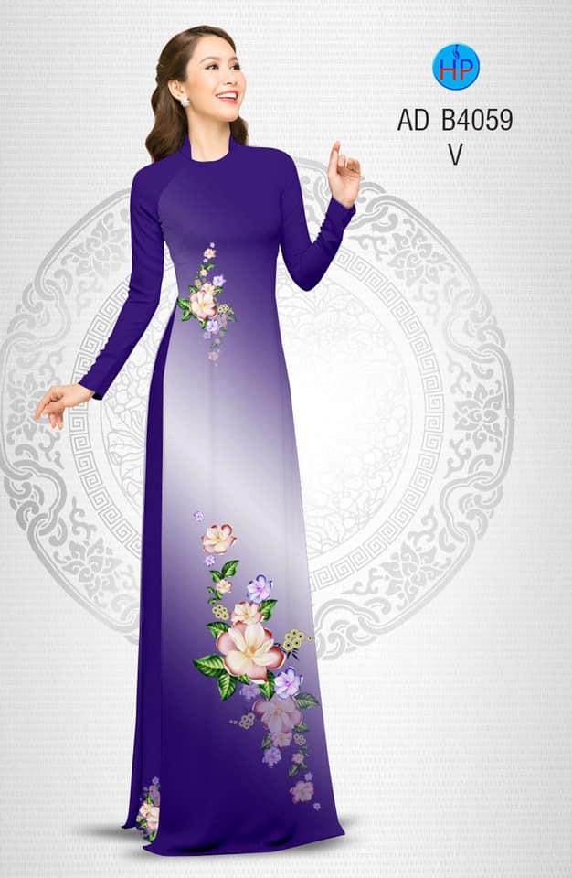 Vải áo dài Hoa in 3D thiết kế 2019 AD B4059