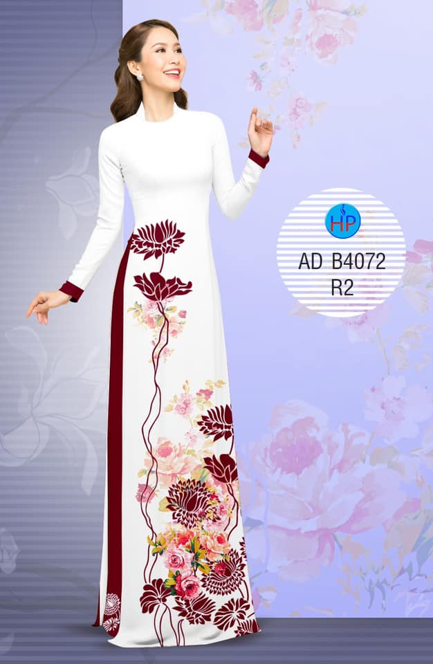 Vải áo dài Hoa in 3D thiết kế 2019 AD B4072