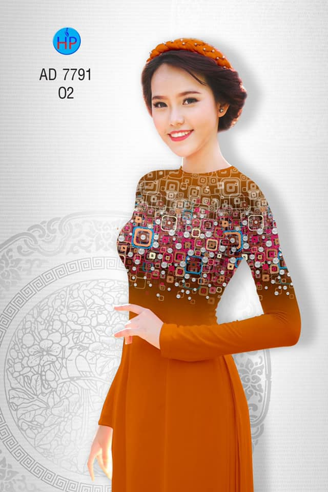 Vải áo dài Hoa văn kiểu mới AD 7791