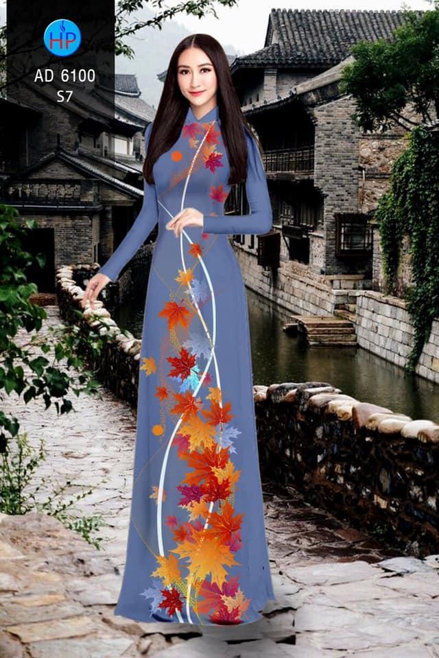 Vải áo dài lá phong kiểu mới AD 6100