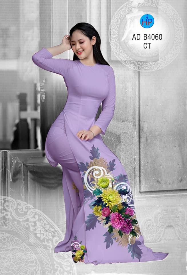 Vải áo dài Hoa Cúc mới ra AD B4060