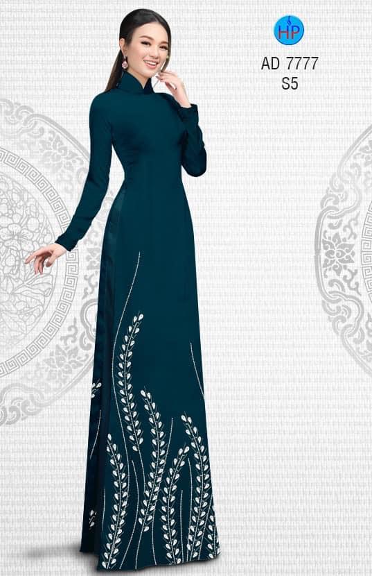 Vải áo dài Hoa Lúa kiểu mới AD 7777