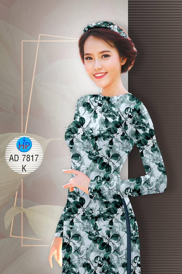 Vải áo dài Hoa đều mới ra AD 7817