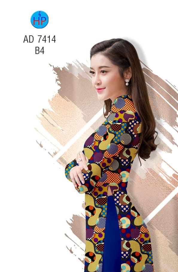 Vải áo dài Bi đều thiết kế 2019 AD 7414