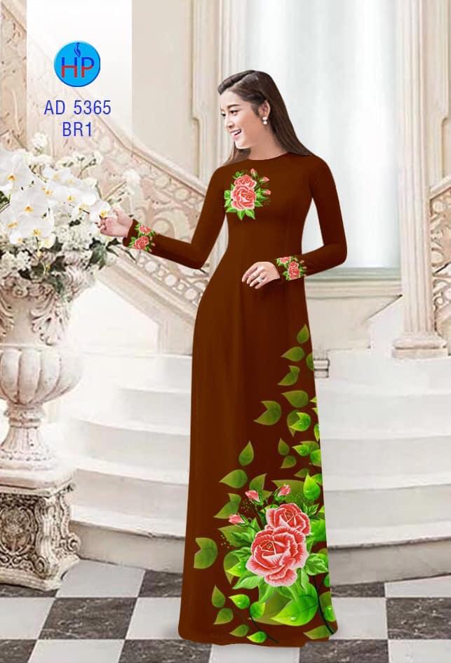 Vải áo dài Hoa hồng thiết kế 2019 AD 5365
