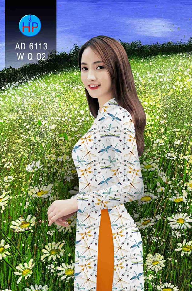 Vải áo dài Chuồn chuồn kiểu mới AD 6113
