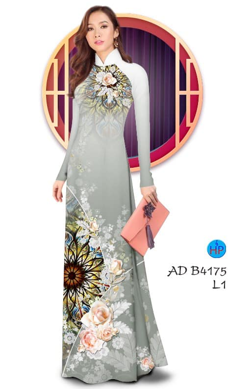Vải áo dài Hoa hồng mới ra AD B4175