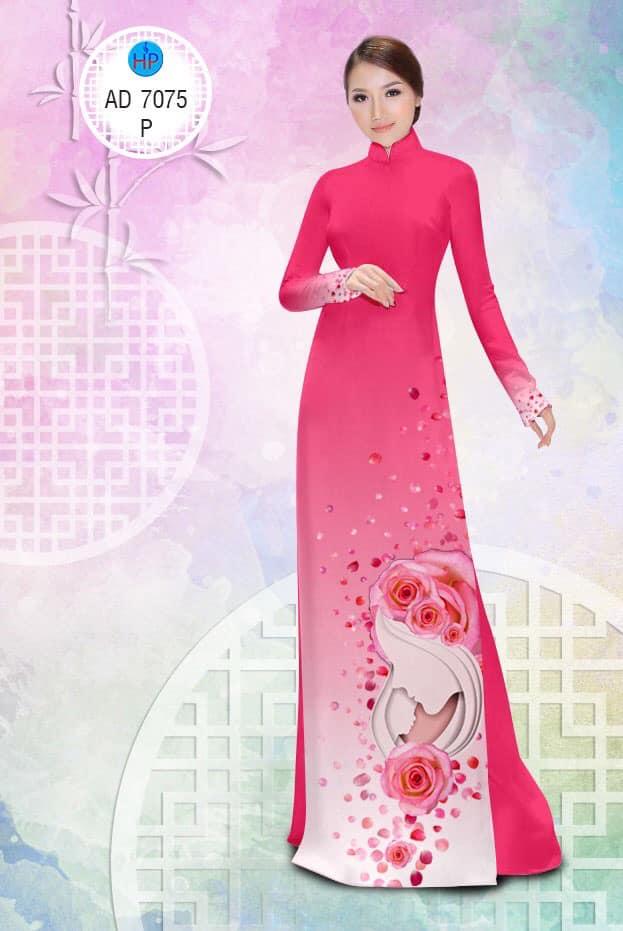 Vải áo dài Valentine 14/2 mới ra AD 7075