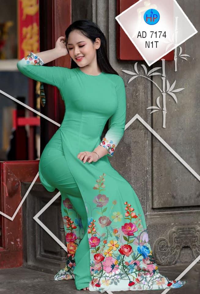 Vải áo dài Hoa in 3D thiết kế 2020 AD 7174