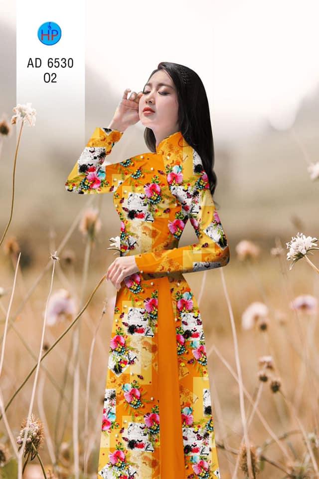 Vải áo dài Hoa đều thiết kế 2020 AD 6530