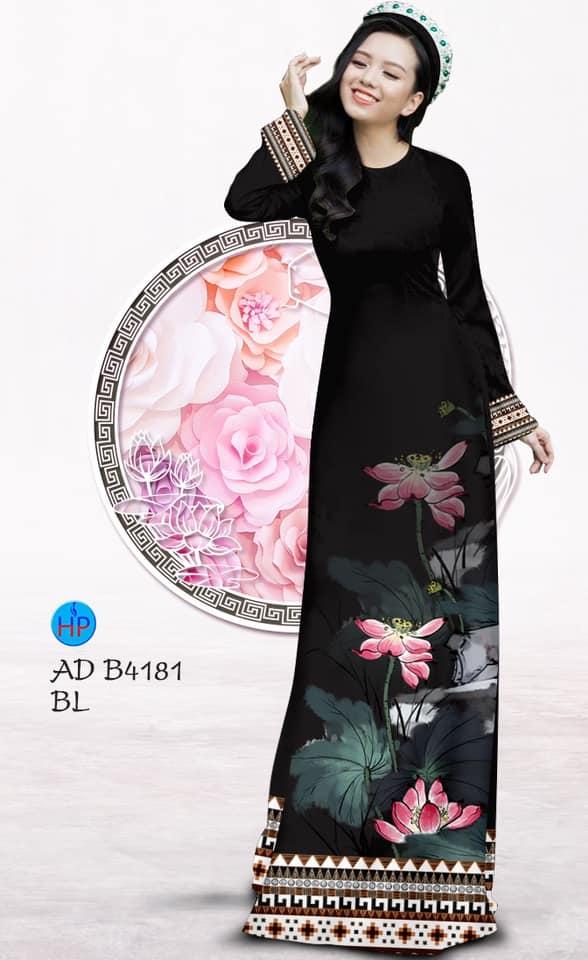 Vải áo dài Sen kiểu mới AD B4181