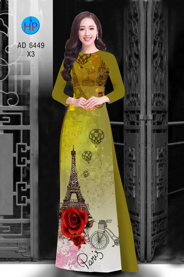 Vải áo dài Paris tình yêu! mới ra AD 6449