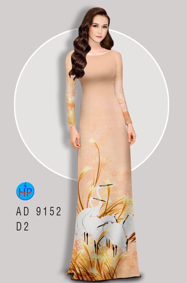Vải áo dài Sếu kiểu mới AD 9152