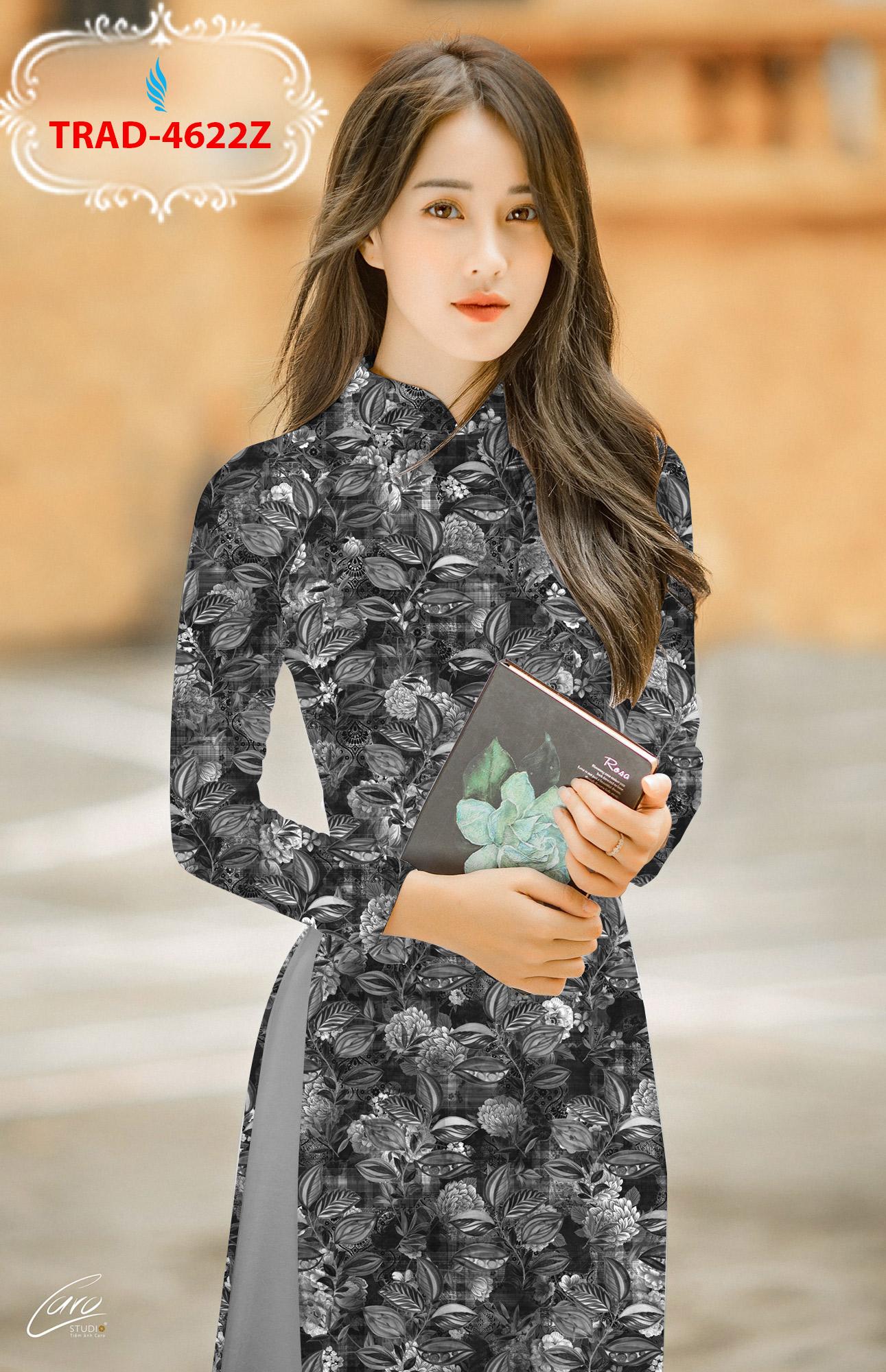 Vải áo dài hoa đều thiết kế 2020 AD TRAD 4622