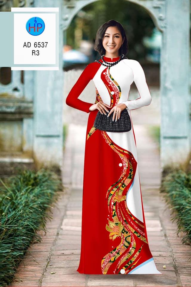 Vải áo dài Hoa in 3D thiết kế 2020 AD 6537