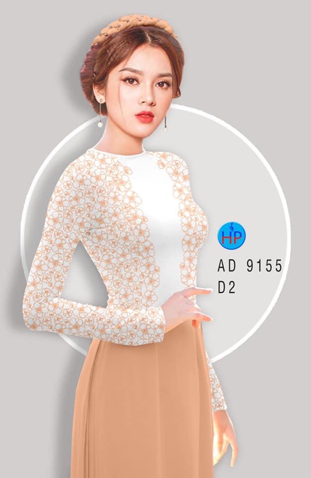 Vải áo dài Hoa in 3D thiết kế 2020 AD 9155