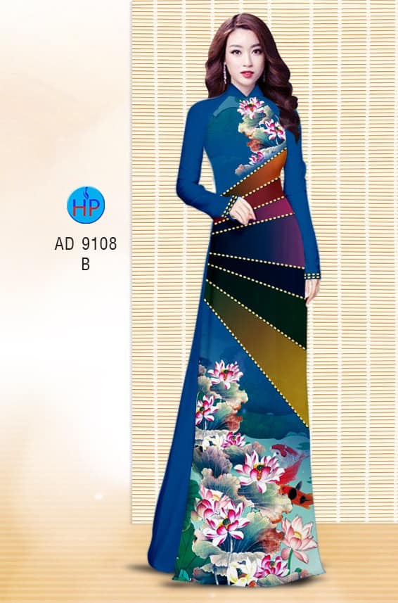 Vải áo dài Sen mới ra AD 9108