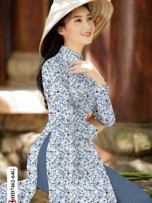 Vải áo dài hoa nhí AD HD7462 1